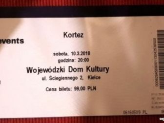 Kortez KIELCE - Bilety
